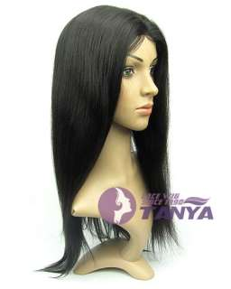 1B# _ Yaki Straight 18 _100% Indian Remy Human Hair Full Lace / Front