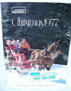 1977 WARDS CHRISTMAS CATALOG   TOYS FASHIONS