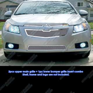 2011 2012 Chevy Cruze Stainless Steel Mesh Grille Insert Combo
