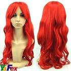 ladys long Full curl curly wavy hair wig Cosplay Red 2012 NEW HOT
