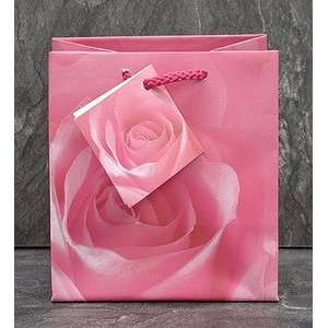 20pc Pink Rose Jewelry Shopping Gift Bag Tote 4 1/2 H