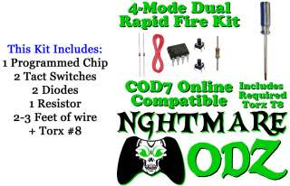 Mode Xbox 360 Rapid Fire Mod Chip Kit Torx Halo Reach