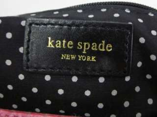 KATE SPADE Black Pink Nylon Leather Trim Small Handbag
