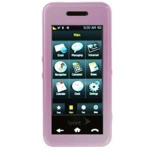 Samsung Instinct Silicone Rubber Skin Case Cover Pink