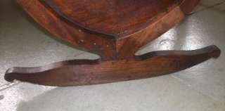 French Antique Mahogany Baby Crib/Cradle Circa1900s