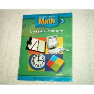 Houghton Mifflin Math 3 Lesson Planner Cd rom Software