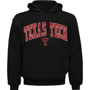 Texas Tech Red Raiders Black Acid Washed Mascot Hooded