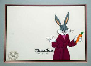 Bugs Bunny Production Cel: Signed Chuck Jones 1979