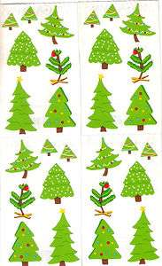 CHRISTMAS TREES* Mrs Grossmans STICKERS Holiday Two 2x6 Strips