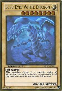 Blue Eyes White Dragon   GLD5 EN001   Ghost/Gold Hybrid Rare   Limited