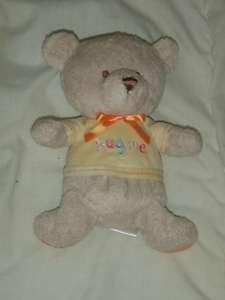 Osh Kosh Baby BGosh Hug Me Tan Yellow Plush Teddy Bear