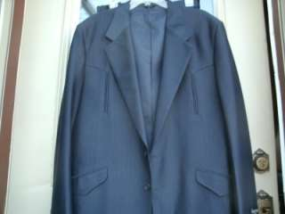 New WOT Vintage Saxifon Mens Western Suit NAVY 44 Jacket 36/33