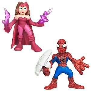 Marvel Super Hero Squad    Scarlet Witch and Spider Man Action Figures