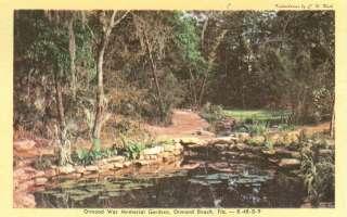 Orman Beach,FL. The Ormond War Memorial Gardens