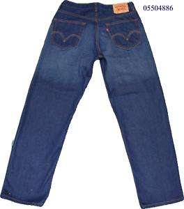 Levi 550 Relaxed Fit Rinsed Dark Blue W 34 L 30