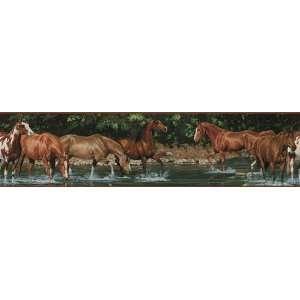 Wild Horses Wallpaper Border in RoomMates