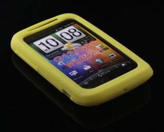5PCS Colorful Silicone Soft Back Case Cover Skin For HTC Wildfire S