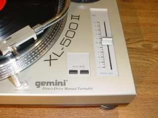 GEMINI XL 500 II DIRECT DRIVE MANUAL TURNTABLE