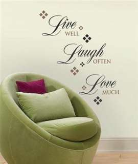 LIVE LAUGH LOVE Words Wall Stickers Quote Vinyl Applique Decals Room