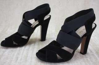 NIB Prada Criss Cross Elastic suede ankle strappy Sandals Pumps Heels