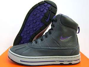 NEW NIKE YOUTH ACG WOODSIDE BOOT GS [415077 002] ANTHRACITE PURPLE