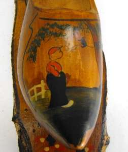 VINTAGE Holland wood Clog Souvenir Dutch Wooden Shoe