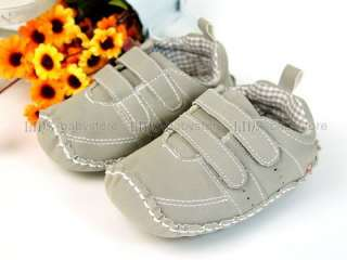 A238 new baby toddler boy gray sneakers shoes 12M 18M