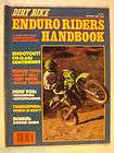 vintage old collectible dirt bike enduro riders handbook oct 1980