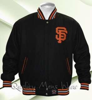 San Francisco Giants 2XL Black Orange Reversible Wool Jacket Water