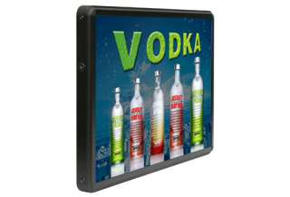 Animated LED Light Box Sign Absolut Vodka Alcohol Bar