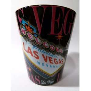 Las Vegas Nevada Black & Pink Welcome Sign Shot Glass