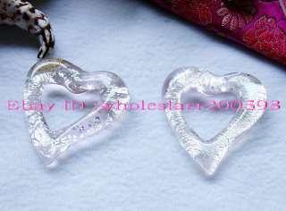 WHOLESALE 12PCS Heart 48*50MM Lampwork Glass Pendants