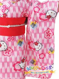 Handmade Pink Hello Kitty Cotton Kimono Fits 18 American Girl Doll