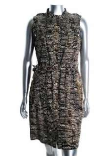 Calvin Klein NEW Brown Versatile Dress Animal Print Sale 14