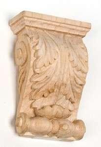 Corbel Hand Carved Solid Hardwood Oak, Maple, Cherry IWW364