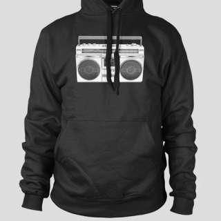 BOOM BOX Hip Hop Break Dance NYC 50 Cent DMC Soulja Boy FLEECE CREW or