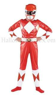 Red Ranger Classic Muscle Child Costume includes red and white