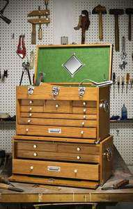 Gerstner   NEW   Oak Tool Box GI 532   With Base