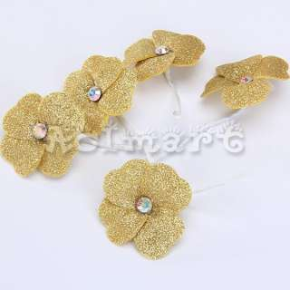 5x Bridal Stock Wedding Party Dress Flower Hair Style Pins up 6 color