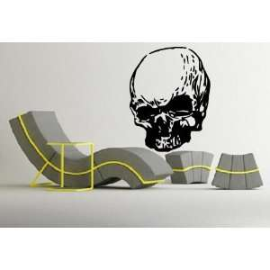 Cool Scary Human Deformed Skull Design Wall Mural Vinyl