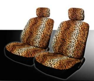 NEW 15PC UNIVERSAL LEOPARD CAR SEAT COVERS STEERING MAT