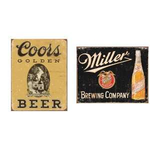 signs Coors Golden Beer, Miller Brewing Company 0001
