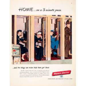 1951 Ad Western Electric Bell Telephone System Army Navy