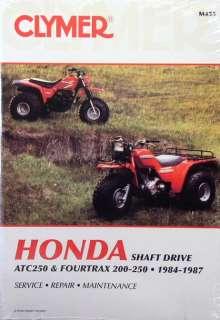 NEW Honda Atv TRX 200 250 TRX250 Fourtrax Repair Manual