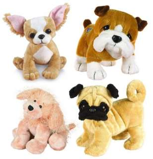 Webkinz Wholesale 4 Pack Dog Lot   Stuffed Plush Webkins Pets With