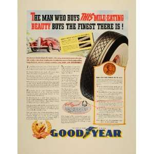 1939 Ad Goodyear Tires Wheels Cars Driving Whitewall