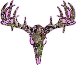 Deer Skull S4 Vinyl Sticker Decal Hunting whitetail trophy buck bow XL
