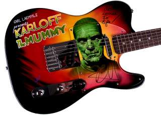 Metallica Autographed Kirk Hammett Signed Airbrushed Guitar PSA UACC