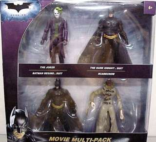 THE DARK KNIGHT MOVIE MULTI PACK 4 FIGURE SET 2 BATMAN, THE JOKER