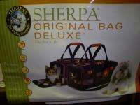 NEW SHERPA ORIGINAL BLK BAG DELUXE FOR SMALL DOGS 8 LBS